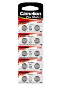 Батарейка CAMELION AG13/G13/LR44/A76/SR44W/GP76A/357 алкалиновая (блистер)