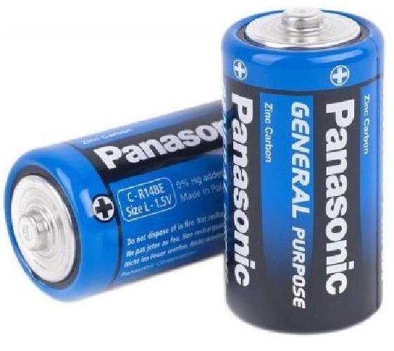 Батарейка PANASONIC R14/С солевая (тех/упаковка)
