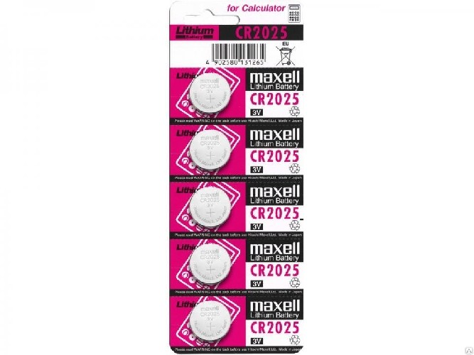 Батарейка MAXELL CR2025 алкалиновая (блистер)