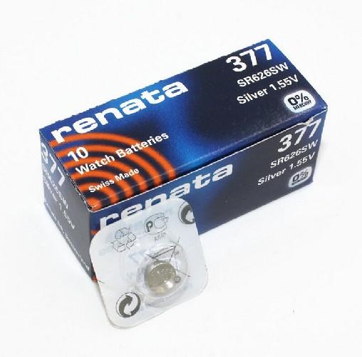 Батарейка RENATA 377/SR626SW серебро (блистер)