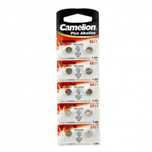 Батарейка CAMELION AG11/G11/LR721/LR58/162/SR721W/GP62A/362 алкалиновая (блистер)