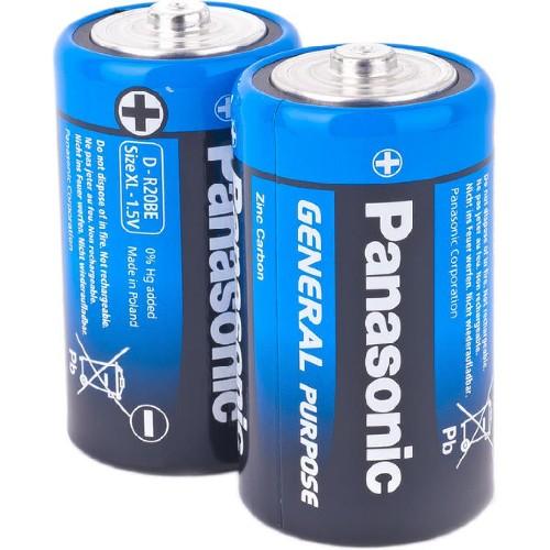Батарейка PANASONIC R20/D солевая (тех/упаковка)