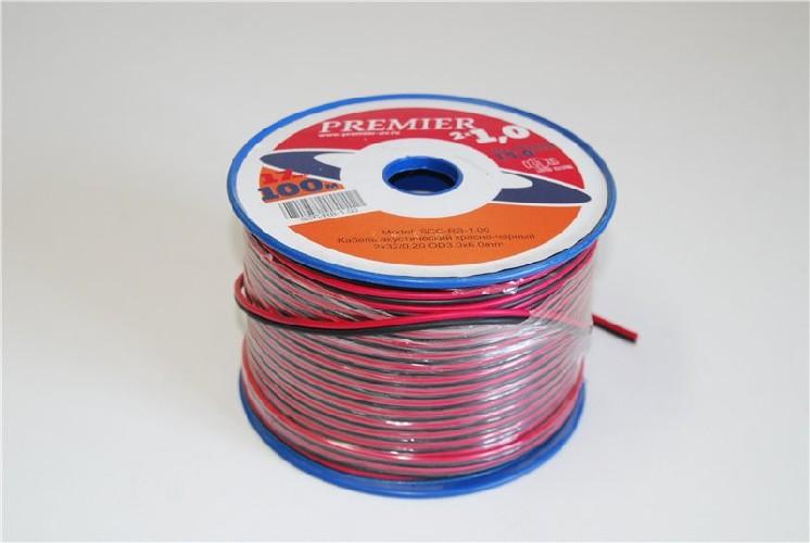 Кабель акустический PREMIER 2x0.50 2x16/0.20 OD2.3x4.6мм красно-черный