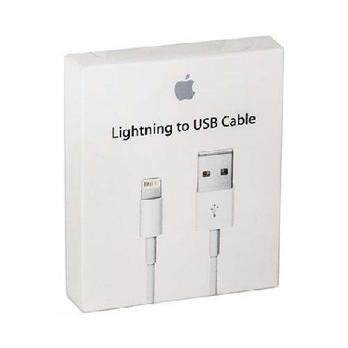 USB-кабель для iPHONE 5 lightning MD818FE/A белый