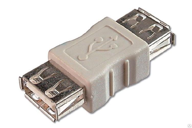 """Переходник USB A """"гн"""" - A """"гн"""" ALENCOM черный"""
