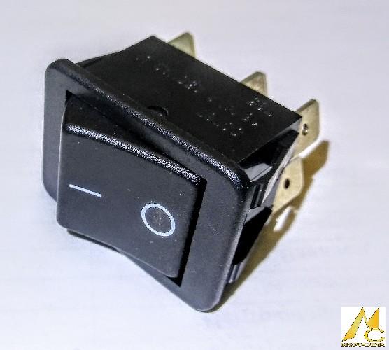 Переключатель электрический клавишный BAOKEZHEN SC787 16A 250V 2 положения прямоугольный черный