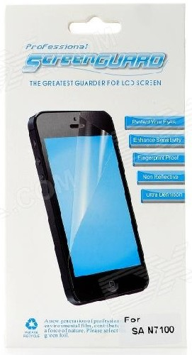 Защитная пленка SCREEN GUARD для Samsung N7100 Galaxy Note глянцевая