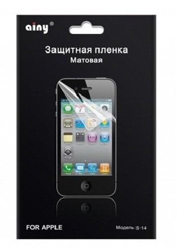 Защитная пленка AINY для iPhone 5/5C/5S матовая