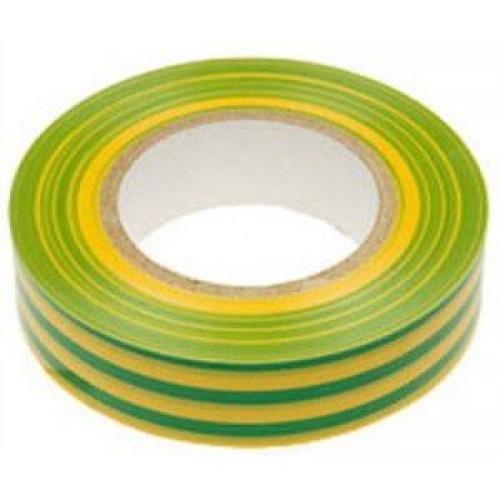 Изоляционная лента PREMIER 0.13мм х 19мм х 25м желто-зеленая