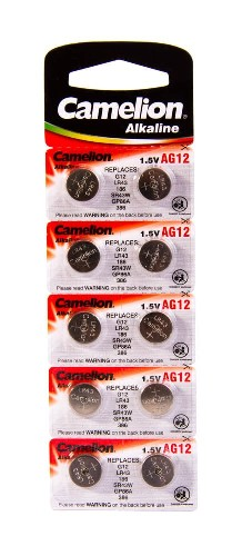 Батарейка CAMELION AG12/LR43/186/GP86A/386/SR43W алкалиновая (блистер)