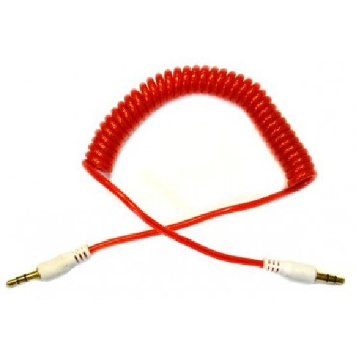"""Шнур 3.5мм """"шт"""" стерео - 3.5мм """"шт"""" стерео крученый с силиконовым покрытием красный"""