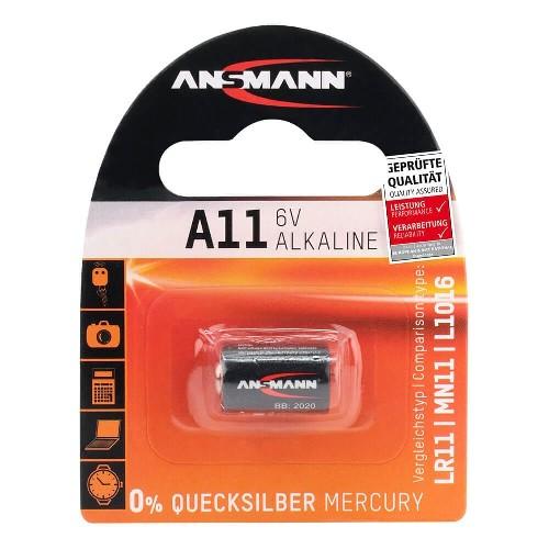 Батарейка ANSMANN A11/LR11/MN11/L1016 Alkaline 6V (блистер)