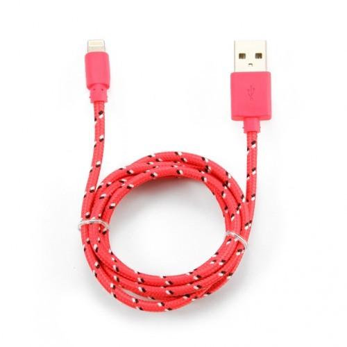 USB-кабель для iPHONE 5 в переплете черно-красный (тех/упаковка)