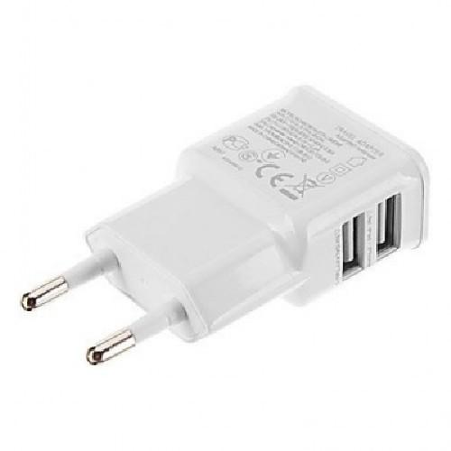Адаптер сеть-2xUSB AFKA-TECH AF-136 5V 2,5A белый (тех/упаковка)