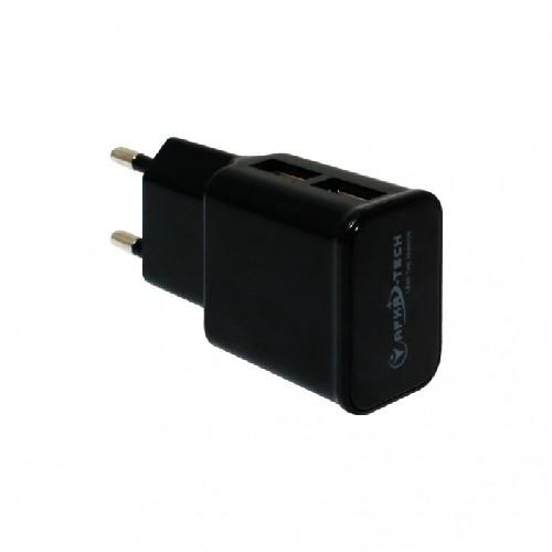 Адаптер сеть-2xUSB AFKA-TECH AF-136 5V 2A черный (тех/упаковка)