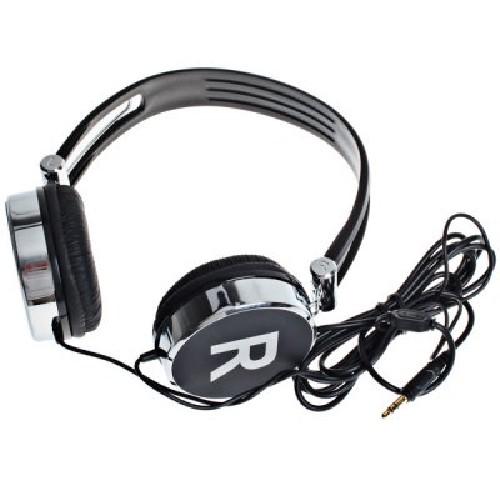 Наушники KANEN KM-870 MP3/iPod джек 3.5 стерео серебро-черные