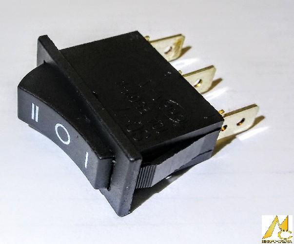 Переключатель электрический клавишный BAOKEZHEN SC-7 10A 250V 3 положения прямоугольный черный