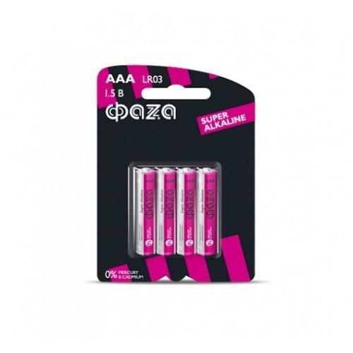 Батарейка FAZA LR03/AAA алкалиновая (тех/упаковка)
