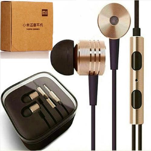 Гарнитура MI MP3/iPod джек 3.5 стерео + микрофон металл. корпус коричнево-черная (пластиковый бокс)