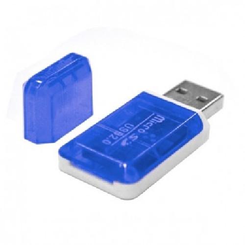Картридер microSD MRM-POWER прозрачно-синий