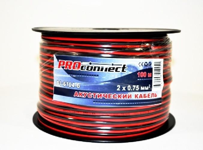 Кабель акустический PROCONNECT красно-черный 2х0.75мм кв.
