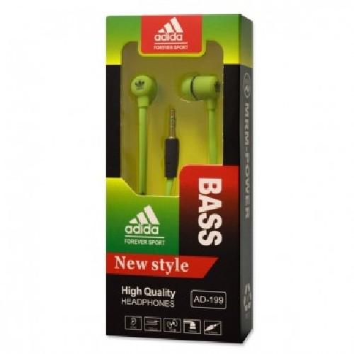 Наушники BASS Adidas AD-199 MP3/iPod джек 3.5 стерео салатовые