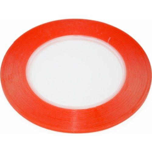 Скотч двусторонний вспененный 1мм x 3мм x 5м красный