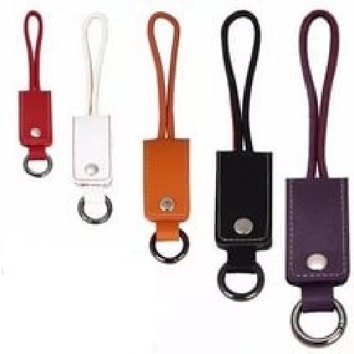 USB-кабель для iPHONE 5/micro-USB + брелок голубой (тех/упаковка)