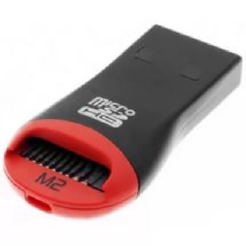 Картридер microSD MRM-POWER красно-черный