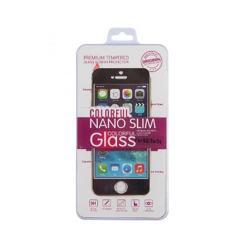 Защитное стекло COLORFUL GLASS для iPhone 6G/plus 2D черный
