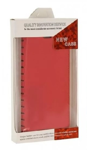 Чехол-книга NEW Case для Lenovo K5 красный (блистер)