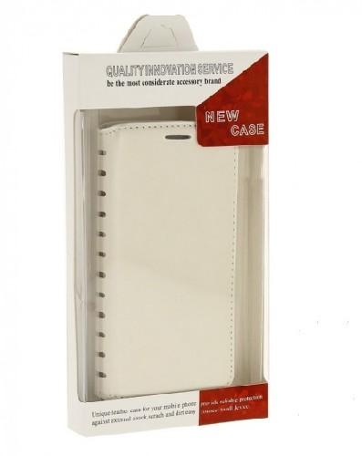 Чехол-книга NEW CASE для Samsung Galaxy J1 белый (блистер)