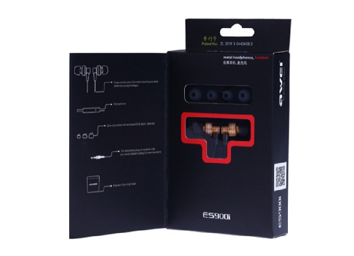 Гарнитура AWEI ES900i MP3/iPod джек 3,5 стерео + сменный насадки черный