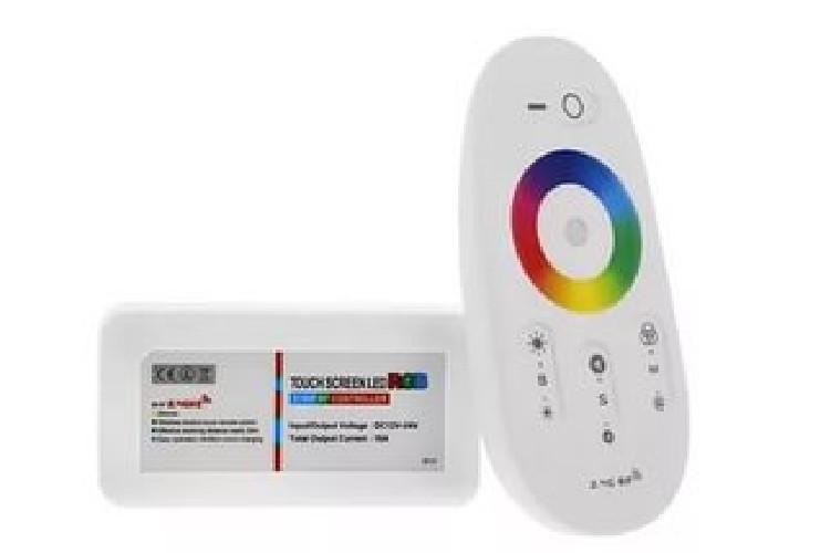 Контроллер беспроводной для светодиодной ленты RGB 2.4G + сенсорный пульт ДУ 12-24V 18A