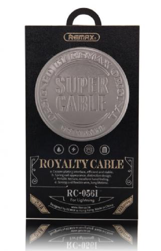 USB-кабель REMAX Super Cable 056i для iPhone 5 троссовый металлический (коробка)