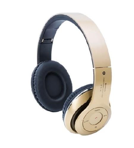 Гарнитура Headphones STN-16 беспроводные MP3/iPod джек 3.5 стерео + микрофон + MP3-плеер золото