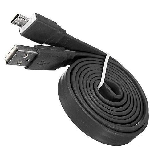 USB-кабель micro-USB резиновый плоский черный