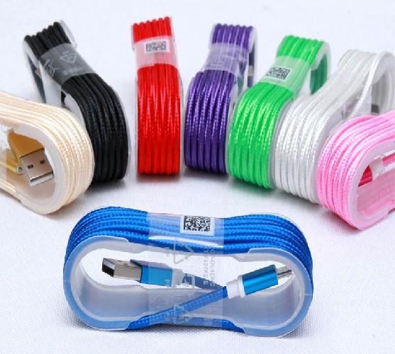 USB-кабель для iPhone 5 в переплете на пластике розовый (тех.упаковка)