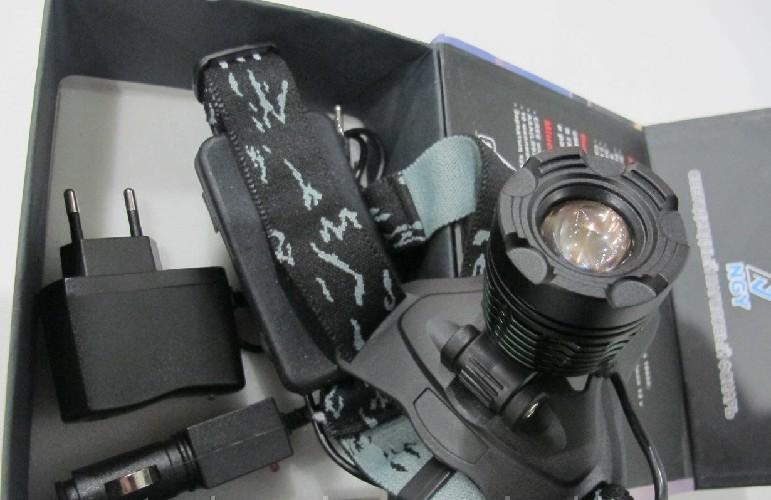 Фонарь налобный NGY YT-K12-T6 Police 98000W + 2xАКБ 18650 12000mAh + СЗУ + АЗУ+диммер