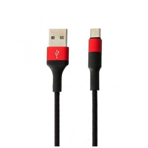 USB-кабель для iPHONE 5 резиновый черно-красный