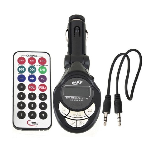FM-модулятор CAR MP3 PLAYER KC-665 + пульт черный (блистер)