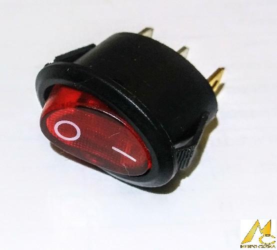 Переключатель электрический клавишный  DAV R3P on-off красный