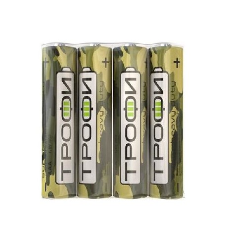 Батарейка ТРОФИ R03/AAА солевая (блистер)