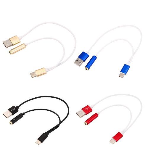 Разветвитель Type-C + USB /3.5 мм для наушников черный