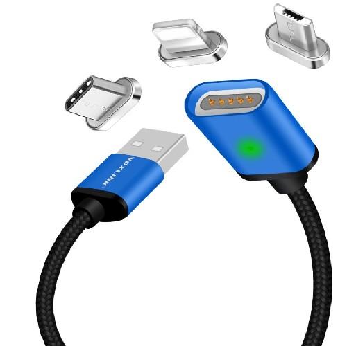 USB-кабель iPhone 5 MAGNETIK CABLE  синий магнитный
