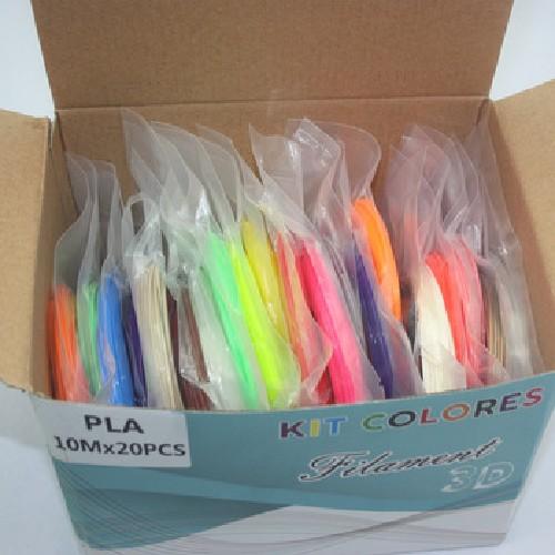 Набор пластиковых нитей для 3D ручки (20шт)