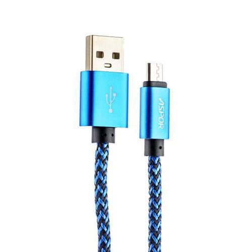 USB-кабель micro-USB тканевый сине-черный 1м (тех/упаковка)