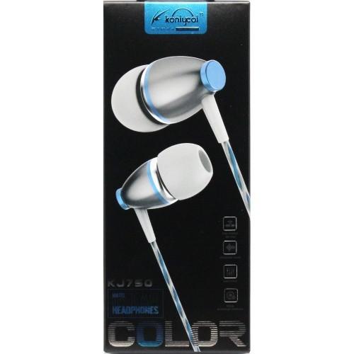 Гарнитура KONIYCOI KJ710 MP3/iPod джек 3.5 стерео + микрофон белый