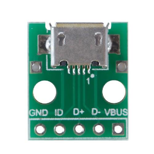 Гнездо micro-USB на плате