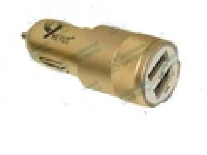 Адаптер авто-2xUSB 9HEYU HY-C18 5V 1A/5V 2.1A (коробка)